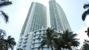 一个大厦的运动视频在中间地区迈阿密的 股票录像
