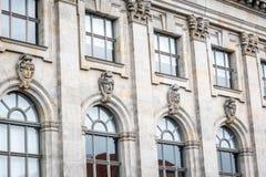 一个大厦的门面在柏林,德国 免版税库存照片