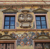 一个大厦的门面在维罗纳 免版税库存照片