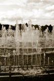 一个大喷泉在公园,莫斯科公园 免版税库存图片