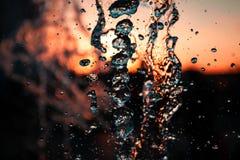 一个大喷泉的水波 库存图片