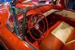 一个大型汽车Edsel步测器Convertible的内部, 1958年 免版税库存照片