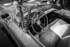 一个大型汽车Edsel步测器Convertible的内部, 1958年 库存图片
