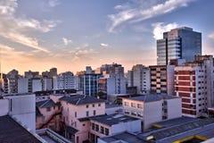 一个大城市的大厦 免版税库存图片