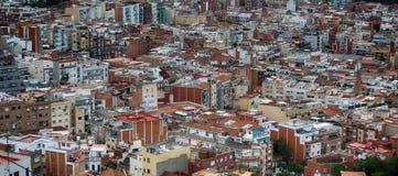 一个大城市的屋顶 库存图片