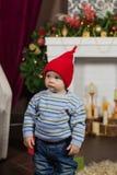 一个大家庭是全部帮助的服务圣诞晚餐 图库摄影