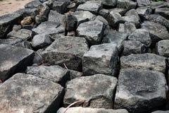 一个大岩石 免版税库存图片