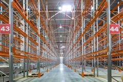 一个大工厂仓库 免版税图库摄影