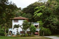 一个大房子在森林 免版税库存照片
