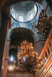一个大枝形吊灯索菲娅大教堂 免版税库存图片