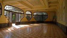 一个大空的大厅在意大利 库存图片