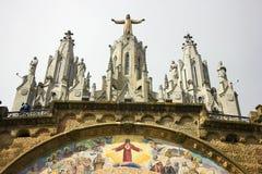一个大耶稣基督雕象 免版税库存照片