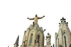 一个大耶稣基督雕象 库存图片