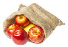 一个大袋用苹果 免版税库存照片