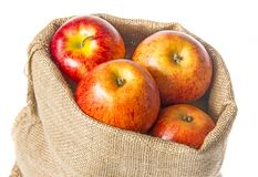 一个大袋用苹果 免版税库存图片