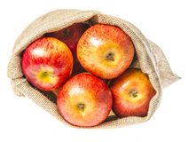 一个大袋用苹果 库存图片