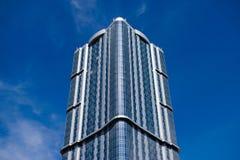 一个大玻璃结构 库存照片