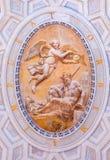 一个天使的华丽壁画在梵蒂冈博物馆的 免版税图库摄影