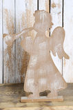 一个天使的圣诞节形象与喇叭的 库存照片
