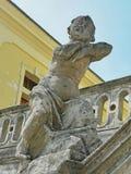 一个天使的雕象在圣乔治的大教堂,利沃夫州里 库存图片