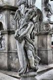 一个天使的雕象在奥洛穆茨圣三柱 免版税图库摄影