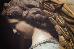 一个天使的雕象在Sant彼得教会,莫迪卡在西西里岛 库存照片