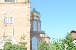 一个天使的阴影在教会的 免版税图库摄影