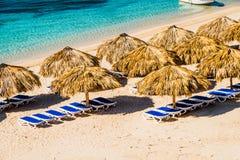 一个天堂海滩的惊人的看法在Playa肘的 图库摄影