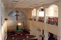 一个天主教会大厅 库存图片