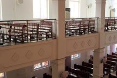 一个天主教会大厅 库存照片