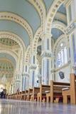 一个天主教会的内部,天津,中国 免版税库存照片