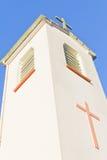 一个天主教会的响铃和塔 免版税库存照片