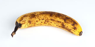 一个太熟澳大利亚香蕉的特写镜头 库存照片