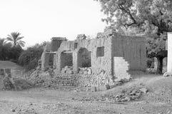 一个失败的堡垒在阿拉伯联合酋长国 免版税库存图片