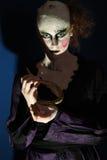一个奇怪的奥秘夫人的画象。 免版税图库摄影