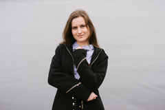 一个女孩伏尔加河 免版税库存图片