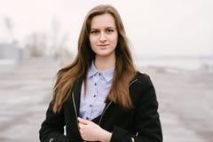 一个女孩伏尔加河 库存图片
