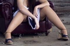 妇女腿 免版税库存照片