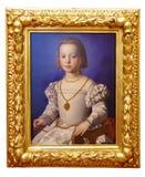 一个女孩的油画 免版税库存图片