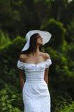 一个女孩的纵向帽子的 库存照片