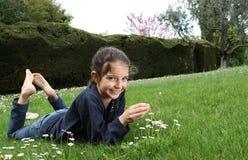 一个女孩的画象 库存图片
