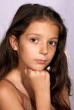 一个女孩的画象 库存照片