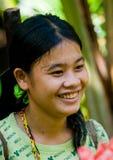 一个女孩Mentawai部落的画象 免版税库存图片
