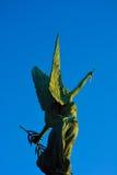 一个女性天使的雕象 库存照片