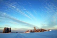 一个好冷的冬日在巴伐利亚 库存图片