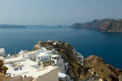 一个好的Santorini视图的图象 免版税库存照片