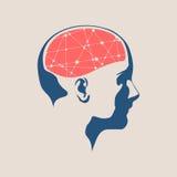 一个妇女头的例证有脑子的 免版税库存照片