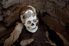 一个妈咪在Chauchilla公墓 免版税库存照片