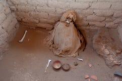 一个妈咪在Chauchilla公墓 库存照片