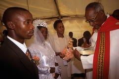 一个婚礼在南非。 免版税库存照片